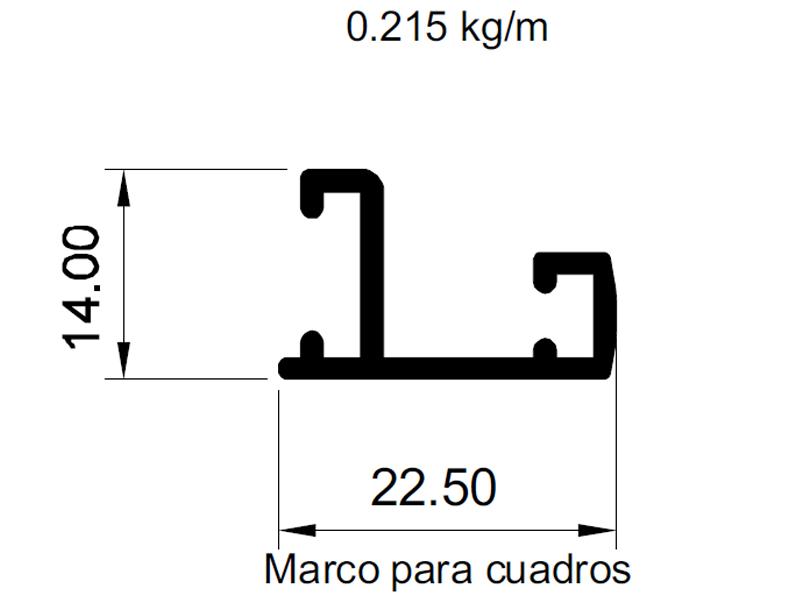 MARCO PARA CUADROS ANOLOK PELTRE - Aluminios del Uruguay
